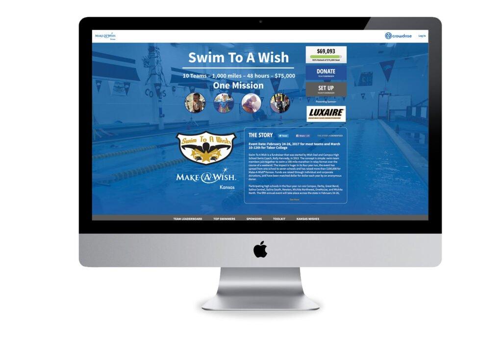 Make-A-Wish Kansas custom website design